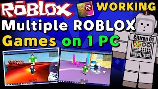 How to Play 2 Games at Roblox once taught male na 100 screen.