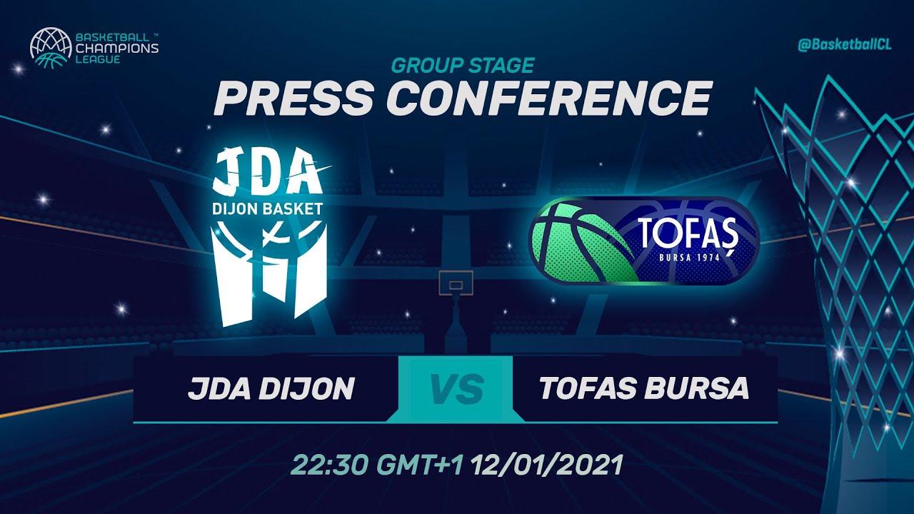 JDA Dijon v Tofas Bursa - Press Conference