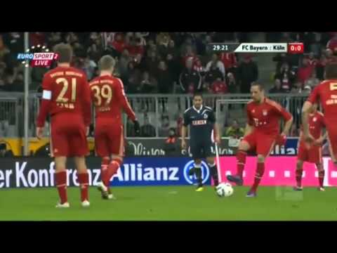Van Buyten Free Kick Bursts Ball HD