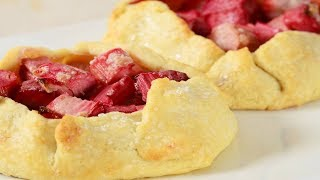 Strawberry Rhubarb Tarts Recipe Demonstration - Joyofbaking.com