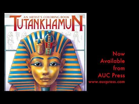 """Tutankhamun; An Artist's Coloring Book"" by Dominique Navarro and AUC Press"