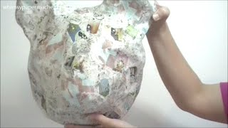 How To Make A Paper Mache Bear Head