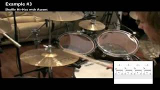 Drum Lesson: Billy Ashbaugh - Standard Blues/Rock Shuffle