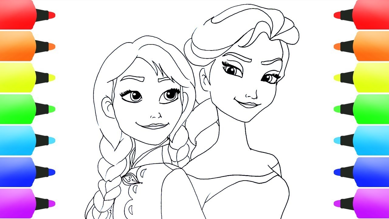 Frozen Anna E Elsa Da Colorare - Disegni da colorare ...