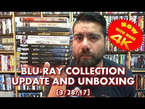 BLURAY COLLECTION UPDATE AND UNBOXING (3/28/17)