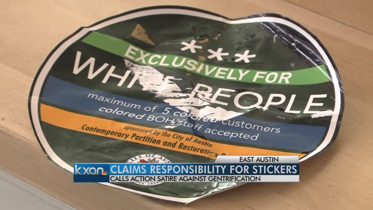 Austin lawyer Adam Reposa says he put up 'white people' stickers
