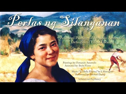 Animated Paintings of Fernando Amorsolo's Definition of Filipina Beauty