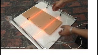 hướng dẫn chế máy uốn nhựa mica