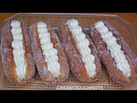 CREAM DOUGHNUTS RECIPE | HOMEMADE CREAM DOUGHNUTS