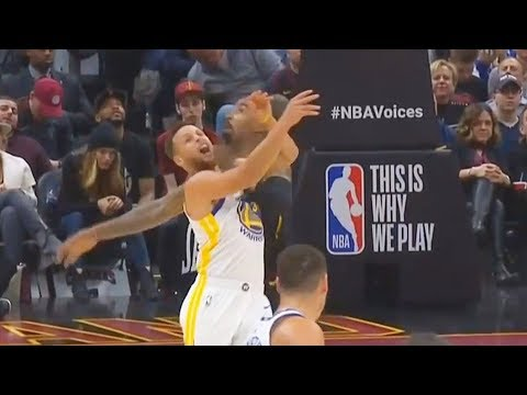 Stephen Curry Gets HIT in the Face By Jr Smith while trying to Steal the Ball!!!