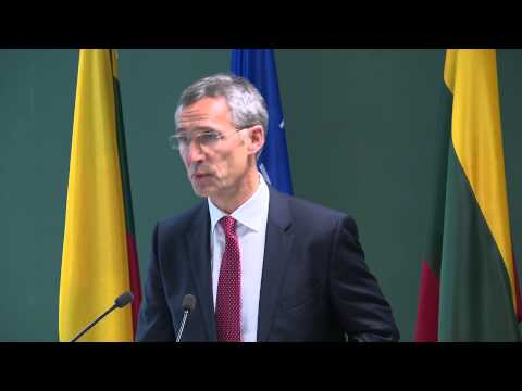 NATO Secretay General and President of the Republic of Lithuania, 21 NOV 2014