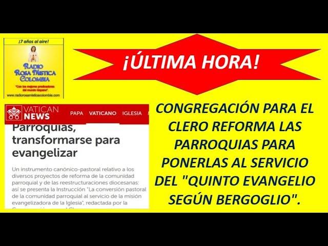 """ÚLTIMA HORA! - VATICANO REFORMA LAS PARROQUIAS AL SERVICIO DEL """"V EVANGELIO  SEGÚN BERGOGLIO"""". - YouTube"""