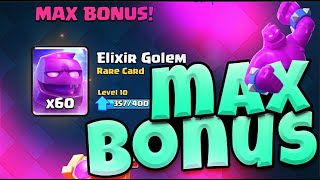 MAX BONUS ELIXIR GOLEM in CLASH ROYALE!
