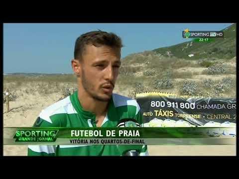 Futebol de Praia :: Sporting - 7 x Amigos da Paz - 2 de 2015 1/4 Final da Divisão de Elite