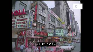 Early 1970s Gritty Times Square New York in HD from 35mm | Kinolibrary