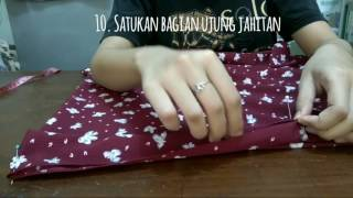 How to sew hijab instant (menjahit hijab instant)