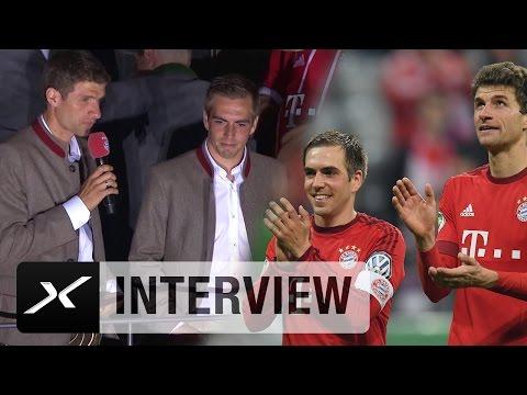 Thomas Müller rührt Philipp Lahm beinahe zu Tränen | FC Bayern München | Bundesliga