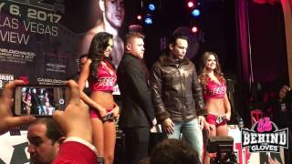 MEXICAN RIVALS CANELO & JULIO CESAR CHAVEZ JR FACE OFF IN NEW YORK CITY