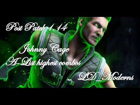 MKX Johnny Cage A-List Highest Combos (5% Health)