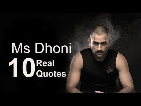 Mahendra Singh Dhoni  10 Real Life Quotes on Success | Inspiring | Motivational Quotes