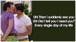 Glee - Got To Get You Into My Life (Lyrics)