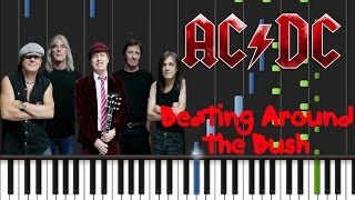 AC/DC - Beating Around The Bush [Piano Cover Tutorial] (♫)