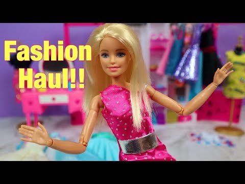 BARBIE CLOTHES HAUL! New Dresses!!
