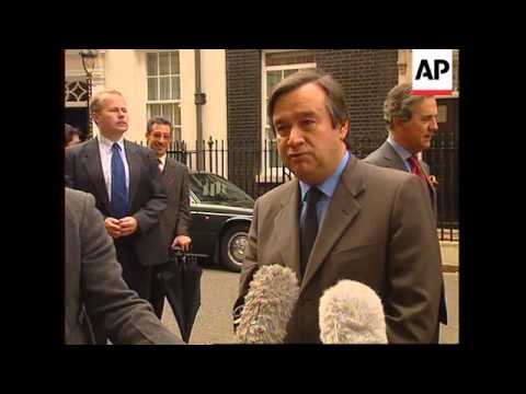 UK: PORTUGUESE PREMIER ANTONIO GUTERRES MEETS TONY BLAIR