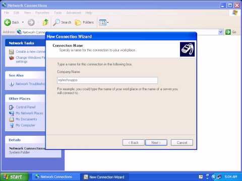 How To Setup VPN Connection In Windows XP