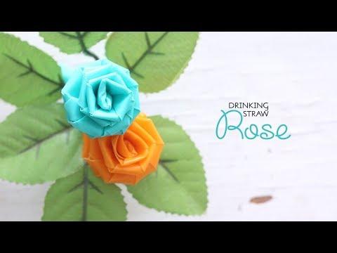 DIY Straw Rose