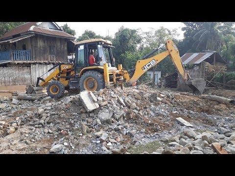 JCB Digger Collecting Stones and Mud - JCB Cleaning Field For Home Construction - JCB VIDEO 2