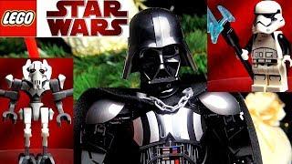 LEGO Star Wars Дарт Вейдер 75534, Боевой Спидер Генерала Гривуса 75199 Первый Орден 75197 Обзор Лего