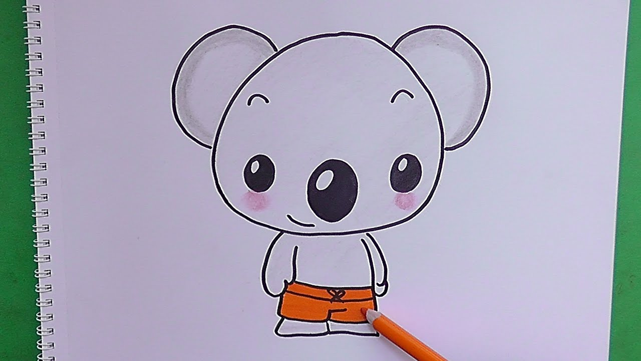 Como dibujar y pintar paso a paso a Koala  How to draw and paint