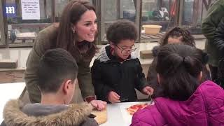 Kate asks Islington school pupils about their ideal pizza topping