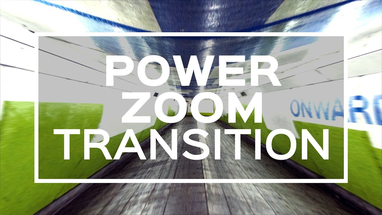 After Effects Tutorial | Power Zoom Transition