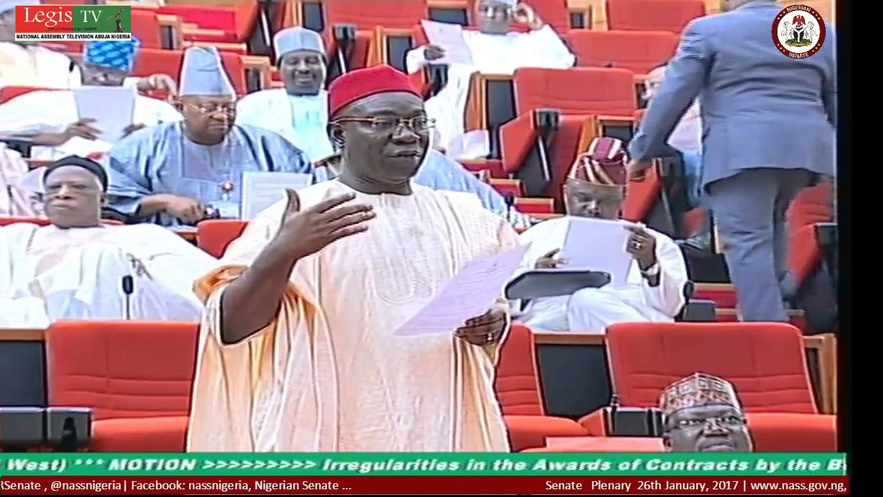 LIVE Senate Plenary 26TH January, 2017