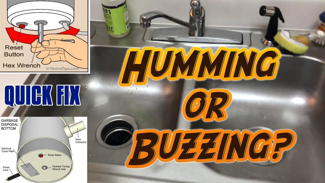 How To Fix A Broken Garbage Disposal Humming Or Buzzing Youtube