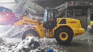Video still for ALLU screener crusher bucket shredding municipal waste