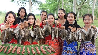 Wow amazing cooking 300 rats roasted and crispy recipe in my village