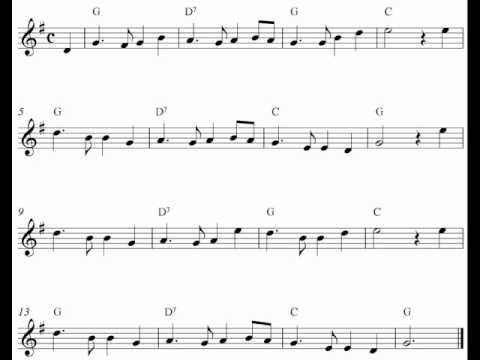 Free violin sheet music notes - Auld Lang Syne