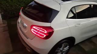 Demonstração Mercedes GLA 200 Vision a noite.