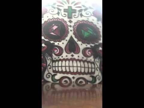 Dancing sugar skull