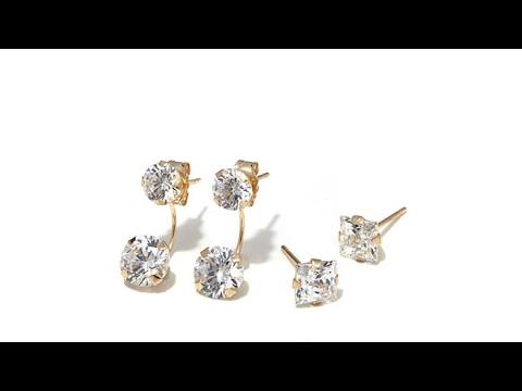 Victoria Wieck 4.5ctw Absolute 14K Earrings   Jackets