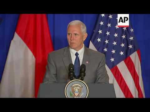 Pence in Indonesia, speaks about Paris attack