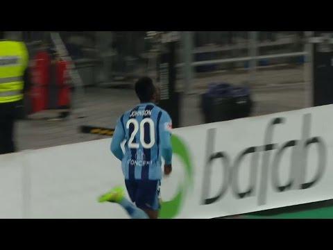 Sam Johnson tvåmålsskytt - placerar in 3-0 - TV4 Sport