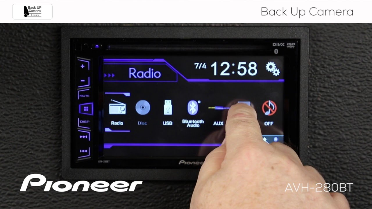 How To Avh 280bt Backup Camera Settings Youtube Pioneer X1700s Wiring Diagram