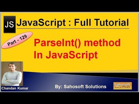 ParseInt() method in JavaScript   JavaScript Full Tutorial in Hindi thumbnail