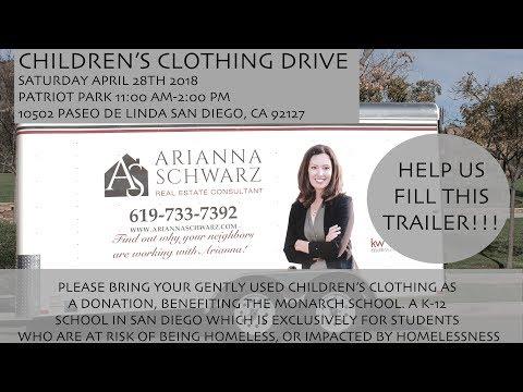 Children's clothing drive