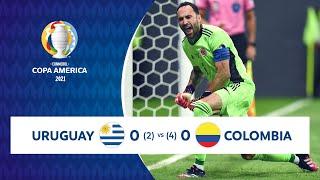 HIGHLIGHTS URUGUAY 0 (2) - 0 (4) COLOMBIA | COPA AMÉRICA 2021 | 03-07-21