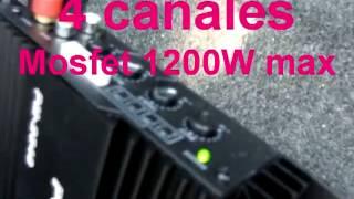 Potencia Amplificador Powerpack 1200w audio car